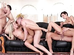 George Uhl Uses His Erect Love Wand To Bring Blow-job Junkie To The Height Of Pleasure After She Takes It In Her Butt