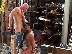 Tattoed Mummy Eva Angelina Gets Naked In Front Of The Woodcutter Johnny Sins And He Violates Her