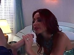 Mesmeric Brown-haired Floozy Monique Alexander Munches On Danny D's Large Boner Before Being Screwed Hard