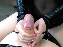 Mistress Works With Her Forearms And Tantalizes A Member With A Jack After Orgasm