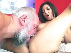 Whorey Youthful Chick Frida Sante Is Having Dirty Romp With Old Fart