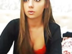 Fine Stunner In Sexy Crimson Undergarments Is Taunting Me On Web Cam