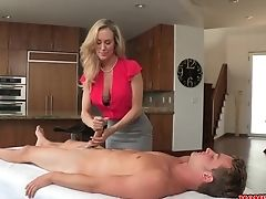 Dual Hard-on Rubdown From Brandi Love And Taylor Whyte