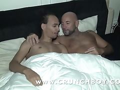 Kevin Fucked Sans A Condom By Heterosexual Lad Nosey While His Friend Is Sleeing