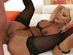 Suntanned Giant Boobed Mummy Brittany Andrews Gets Her Butthole Opened Up Rear End
