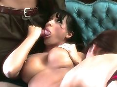 Tempting And Fuckfest-greedy Hooker Mandy Bright Takes Part In Crazy Duo 3some Orgy