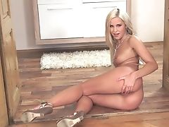 Teenager Lola Myluv Touches Her Vagina And Jugs In A Tempting Manner