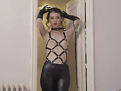 Misha Cross Loves Wearing Taut Leather Pants And She Is Good At Lovemaking