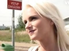 """exposedcasting - Rossella Visconti Blonde Czech Mega-slut Outdoor Fuck With Horny Casting Agent"""