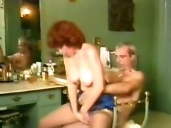 Insatiable Red-haired Cougar Boned Hard In The Bathroom