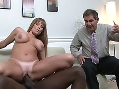 Red-haired Julius Ceazher With Edible Melons Gets Mouth Drilled By Mans Pulsating Boner
