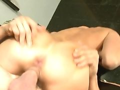 Alex Gonz Makes Black-haired Eva Karera With Massive Mammories Bellow And Shout With His Hard Love Wand In Her Asshole Before She Takes It In Her Mout
