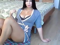 Incredible Homemade Vid With Black-haired, Deep Throat Scenes
