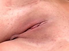 Blonde Pamela M With Giant Melons Inserts Her Thumbs In Her Fuck Fuck-hole